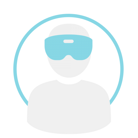 Person wearing HoloLens